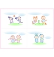cheerful and happy kids vector image vector image