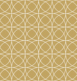 Elegan Gold Circle Pattern vector image