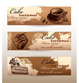 banners with sweets vector image