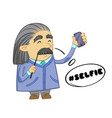 cute scientist cartoon design of funny scientist vector image