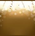 golden new year postcard vector image