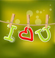 I love you under line rope vector image