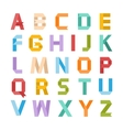 Paper ribbon alphabet vector image