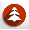 xmas tree web flat icon vector image