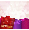 Christmas gifts background vector image vector image