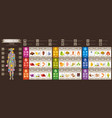 mineral vitamin supplement food icons healthy vector image