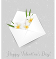 valentine plumeria envelope vector image