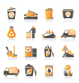 Garbage and rubbish icons vector image vector image