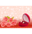 background with roses and weddin vector image vector image