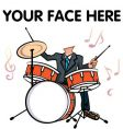 man playing drum vector image