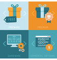 different business models of distributing apps vector image vector image
