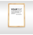 Picture wood frame for image or text vector image