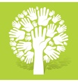 Hands of tree on green vector image vector image