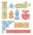 Celtic color ornaments set vector image