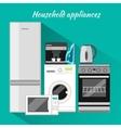 Household Appliances Flat Design vector image vector image