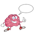 Funny brain cartoon vector