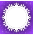 Circle Violet Background New Year Snow Snowflake vector image
