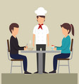 couple eating design vector image