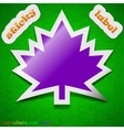 Maple leaf icon sign Symbol chic colored sticky vector image