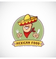 Mexican Food Abstract Sign or Logo Template vector image