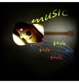 Music guitar vector image