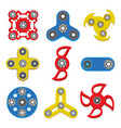 set of hand spinner toys flat icons vector image