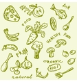 Fruit Vegetables Hand-drawn vector image