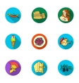 Italy country set icons in flat style Big vector image
