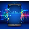 Music on Mobile Phone vector image
