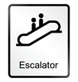 Escalator Information Sign vector image vector image