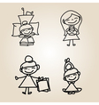 cartoon character happy people vector image
