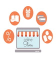 internet store1 resize vector image vector image