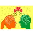 man and woman looking at each other vector image