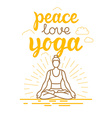 yoga and sport motivation banner and poster in vector image vector image
