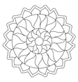 Coloring Simple Sun Mandala vector image