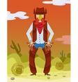 Cowboy Wild West vector image