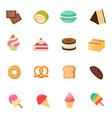 Dessert icon full color flat icon design vector image