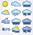 icon set of a weather vector image