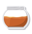 jar sweet honey isolated vector image