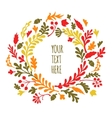 Round frame of autumn leaves Autumn leaves vector image