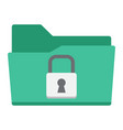 secure data folder flat icon security padlock vector image