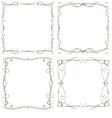 set of four decorative multilayer frameworks vector image