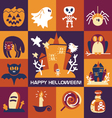 Set-of-halloween-icons vector image