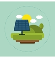 solar panel landscape sun cloud vector image