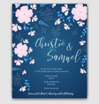 wedding invitation flowers template vector image