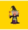 Witch for halloween in a flat style vector image