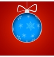 Christmas ball cut from paper vector image vector image