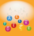 Placer vitamins vector image