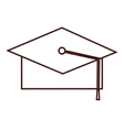 graduation student hat vector image