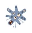 Blue Blot Shaped Aggressive Malignant Bacteria vector image